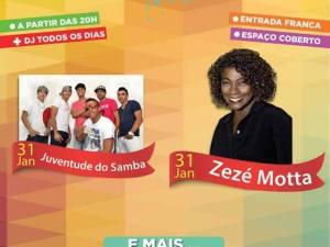 Zezé Motta fecha o Ubatuba Fest neste fim de semana.