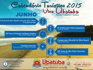 Agenda de junho chega com muitas atrações para esquentar Ubatuba.