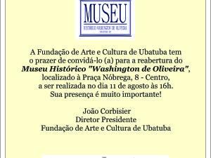 Convite inauguração Museu