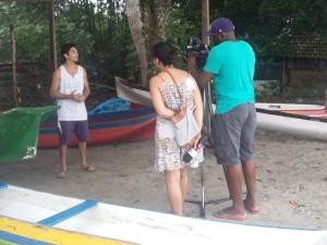 Rede Vida grava programa de turismo em Ubatuba