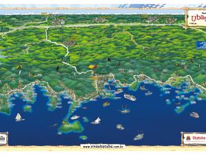 Ubatuba ganha um novo mapa turístico do município