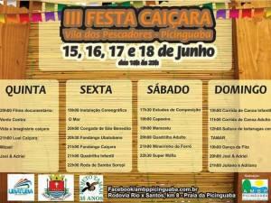 III FESTA CAIÇARA – VILA DE PICINGUABA