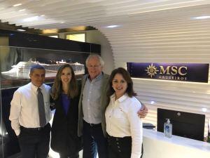 Setur reúne-se com MSC para acertar detalhes do retorno de Cruzeiros a Ubatuba