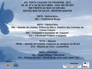 20ª FESTA CAIÇARA DO PRUMIRIM – 2017