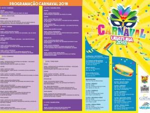 Programação de Carnaval 2018