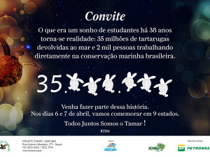 Projeto TAMAR celebra 35 milhões de tartarugas marinhas protegidas no Brasil