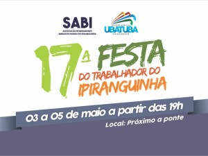 Tradicional Festa do Trabalhador do Ipiranguinha começa nesta quinta