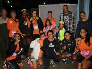 Equipe de Ubatuba apresenta bons resultados em competição de corrida noturna