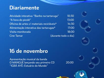 Projeto TAMAR oferece programação especial  para o feriado de 15 de novembro