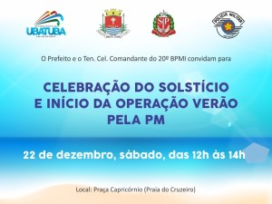 Celebração do Solstício e Início da Operação Verão pela Polícia Militar