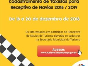 Cadastramento de Taxistas para Receptivo de Navios 2018/2019