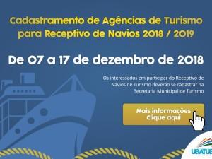 Cadastramento de Agências de Turismo para Receptivo de Navios 2018/2019