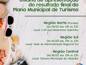 Prefeitura realiza terceira rodada de oficinas para elaboração do Plano Municipal de Turismo