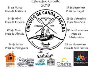 AARCCA divulga calendário do Circuito de Corrida de Canoa Caiçara 2019