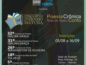 """FundArt abre inscrições do """"Concurso Literário 2019"""""""