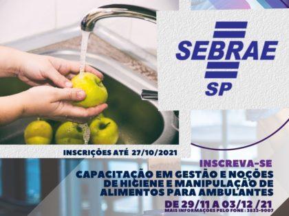 PARCERIA COM O SEBRAE OPORTUNIZA QUALIFICAÇÃO GRATUITA PARA AMBULANTES DO MUNICÍPIO